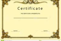 Vintage Certificate Award / Diploma Template Stock throughout Beautiful Certificate Templates