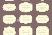 Vintage Label Frames. Old Ornamental Labels, Fashion Product with Antique Labels Template
