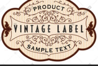 Vintage Label Vector & Photo (Free Trial) | Bigstock throughout Antique Labels Template