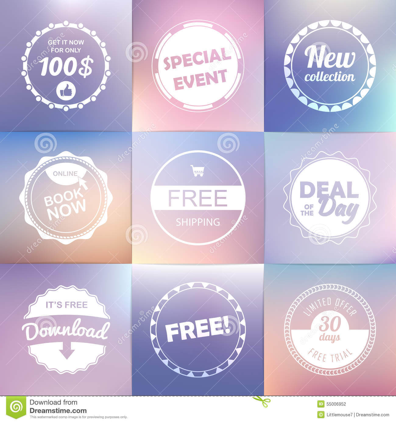 Vintage Labels Set: Free Shipping ,free, Download, New With Book Label Template Free