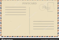 Vintage Postcard. Old Template. Retro Airmail Envelope With intended for Airmail Postcard Template