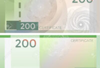 Voucher Template Banknote 200 With Guilloche Pattern Watermarks.. intended for Bank Note Template