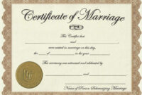 Vow Renewal Certificate Template ] – Meal Ticket Template throughout Blank Marriage Certificate Template