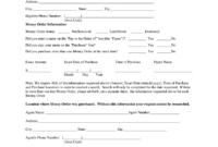 Western Union Form – Fill Online, Printable, Fillable, Blank in Blank Money Order Template