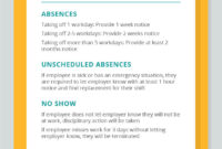 What To Include In Your Small Business Attendance Policy inside Attendance Policy Template