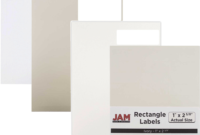 White & Ivory Labels   Jam Paper intended for 4 X 2.5 Label Template