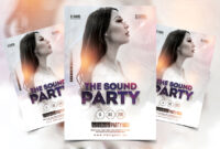 White Sound Free Party Psd Flyer Template – Psdflyer.co throughout All White Party Flyer Template Free