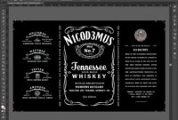 Will You Be My Groomsman Whiskey Bottle Invitation Best Man in Blank Jack Daniels Label Template