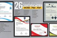 Word Certificate Template – 53+ Free Download Samples regarding Blank Award Certificate Templates Word
