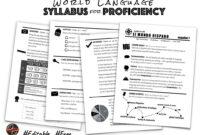 World Language Syllabus For Proficiency | Creative Language in Blank Syllabus Template