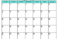 Write In Calendar 2015 – Colona.rsd7 regarding Blank Activity Calendar Template
