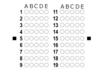Zipgrade: Answer Sheet Forms inside Blank Answer Sheet Template 1 100